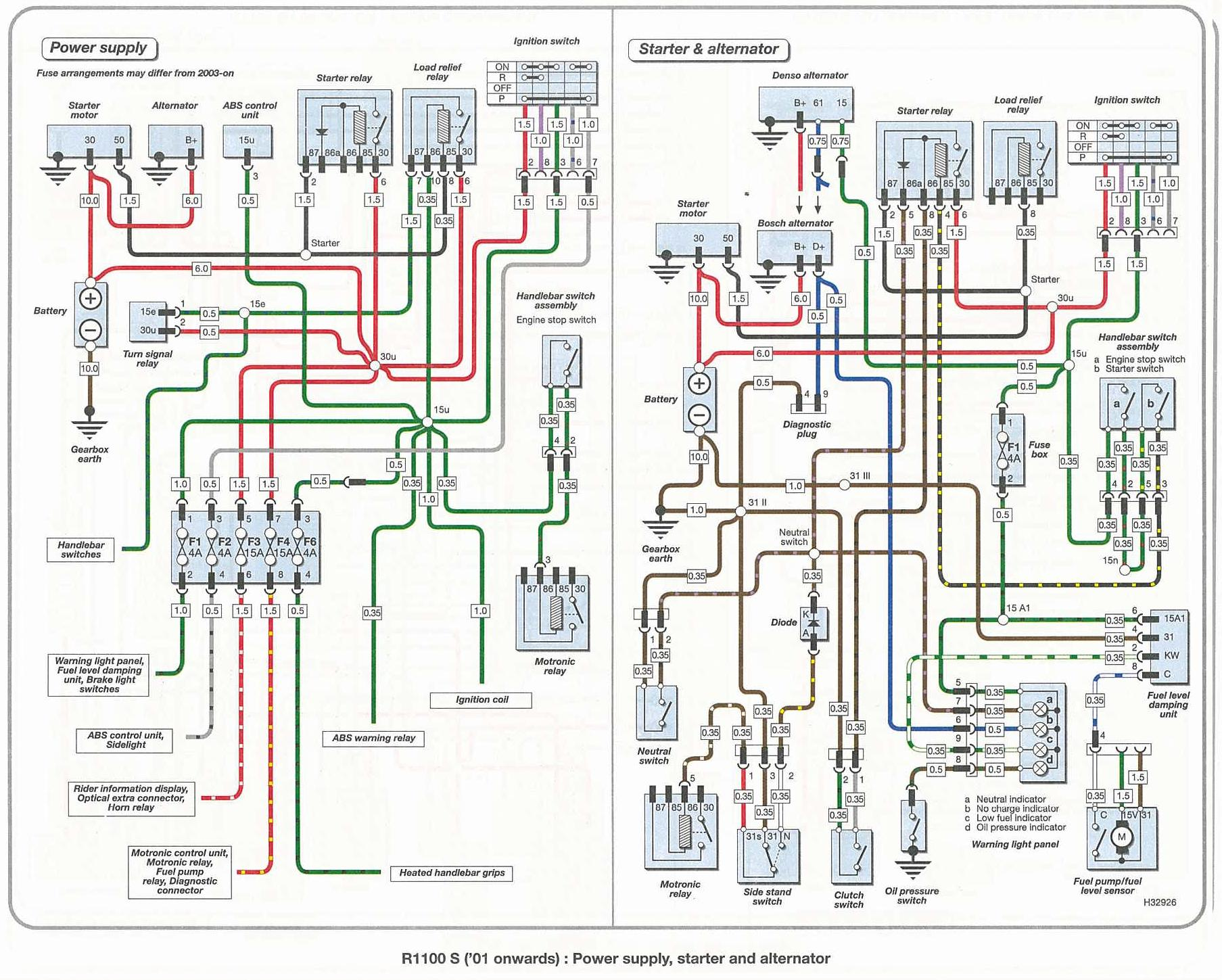 BMW R1100S Wiring Diagrams – K1300s Wiring Diagram